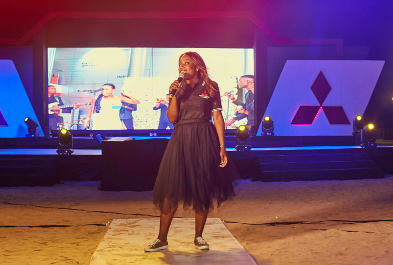 Funmi Abiola, Head, Marketing and Communications, Massilia Motors at the launch of Mitsubishi L200 (1)