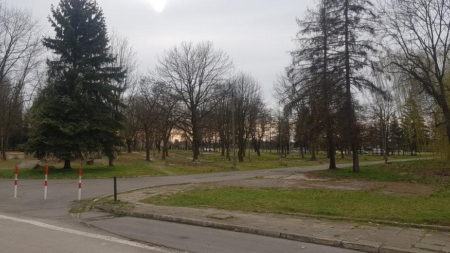 Teren w sąsiedztwie ronda Ofiar Katynia