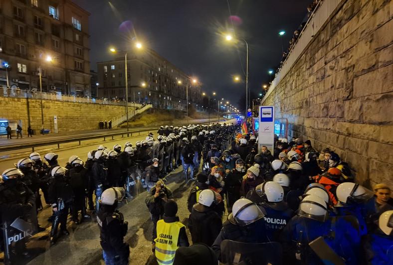Strajk Kobiet w Warszawie 28 listopada 2020 r Fot. Maciej Suchorabski