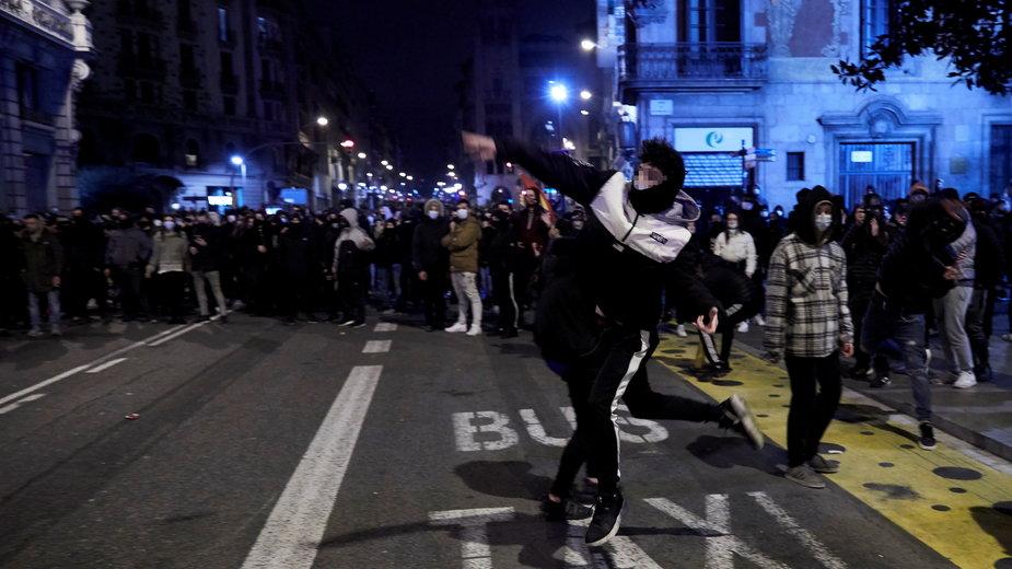 W Barcelonie 8 tys. osób domagało się uwolnienia rapera