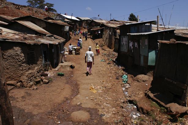 Kibera, slumsowa dzielnica Nairobi.