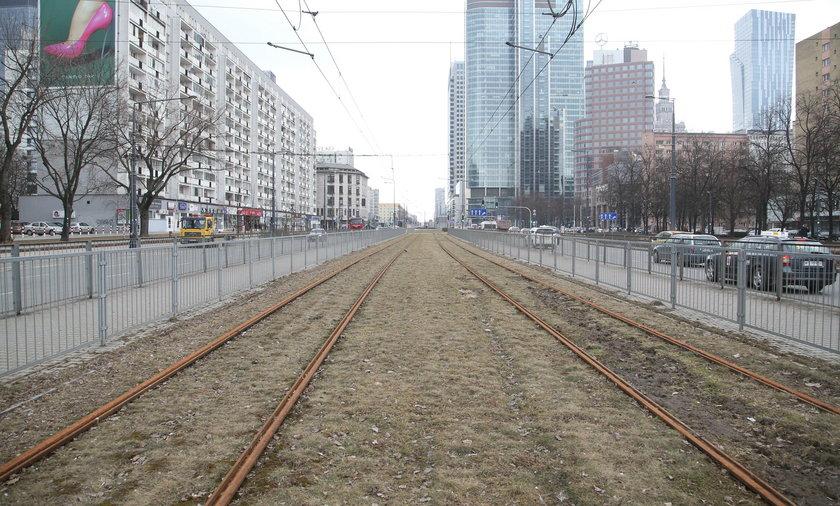 Na te tory tramwaje nie mają jak wjechać.