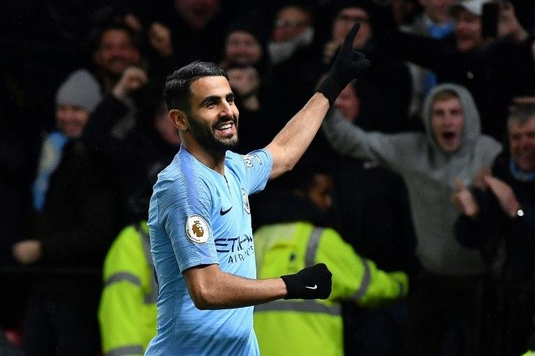 Riyad Mahrez scored Manchester City's second goal in a 2-1 win at Watford on Tuesday