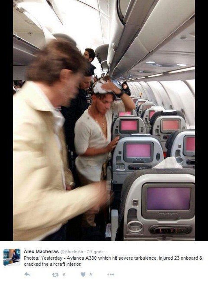 Turbulencje w samolocie