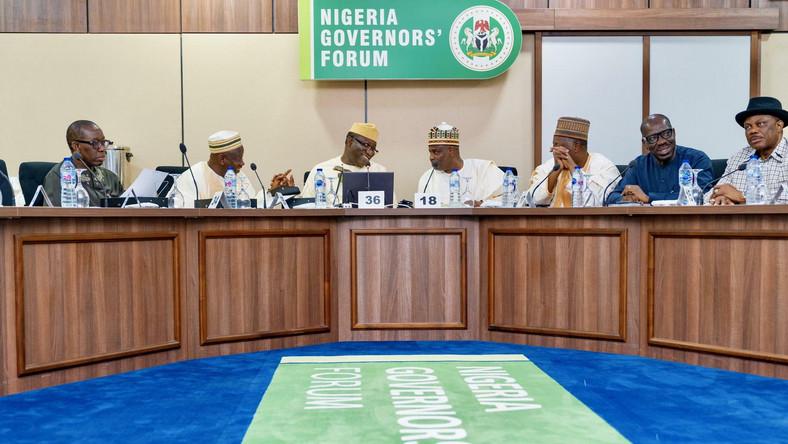 Governors holdemergency meeting over NLC's plannedstrike. [Twitter/@NGFSecretariat]