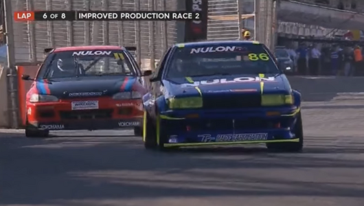 Toyota AE 86 vs Honda Civic - piękna walka na torze Adelaide