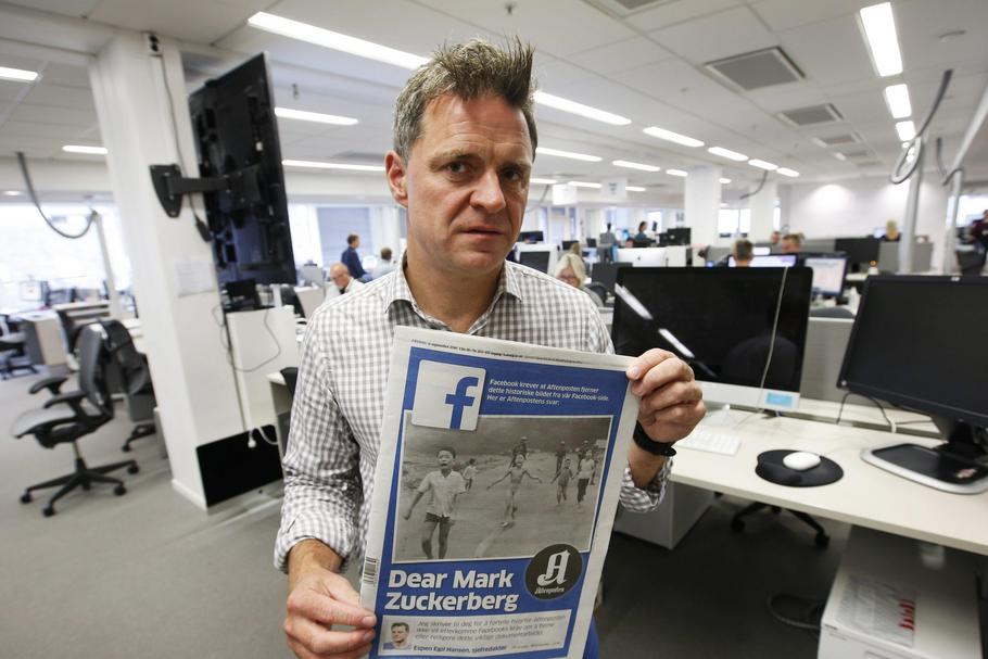 Aftenposten's editor-in-chief and CEO, Espen Egil Hansen writes an open letter to CEO of Facebook, Mark Zuckerberg