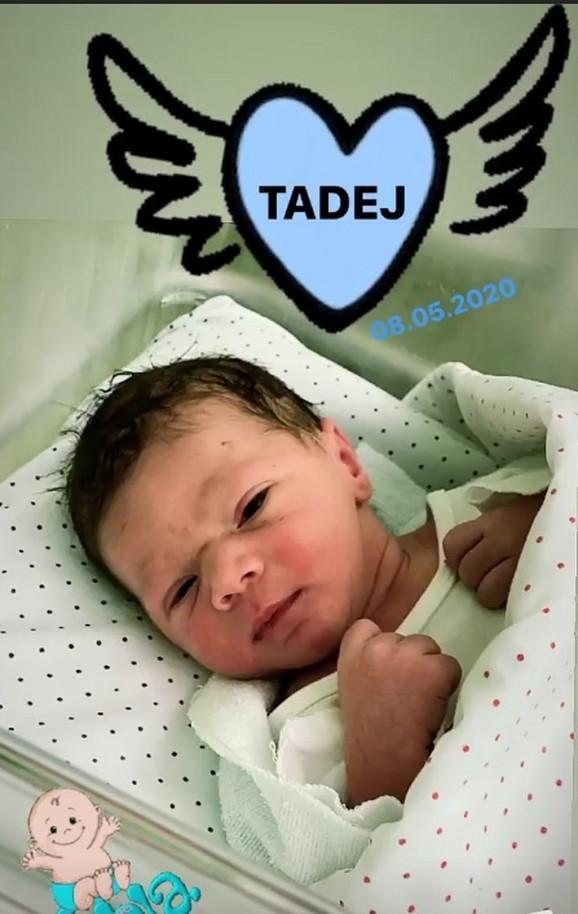 Tadej, sin fudbalera Uroša Đurđevića