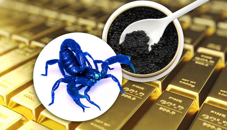 plavi skorpion kavijar zlato kombo RAS Shutterstock Profimedia