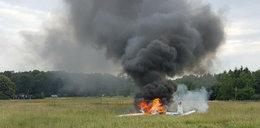 Twarde lądowanie w Katowicach. Spłonął samolot
