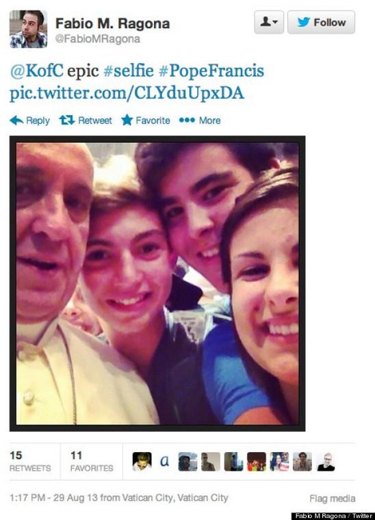 selfie z papieżem Franciszkiem