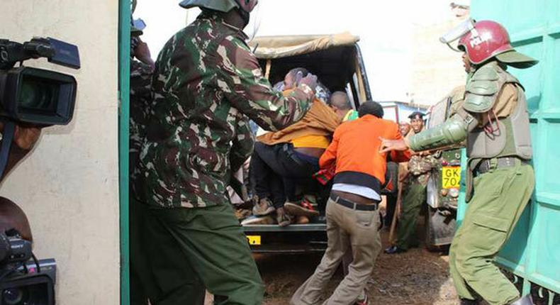 Kenyan police during a past arrest