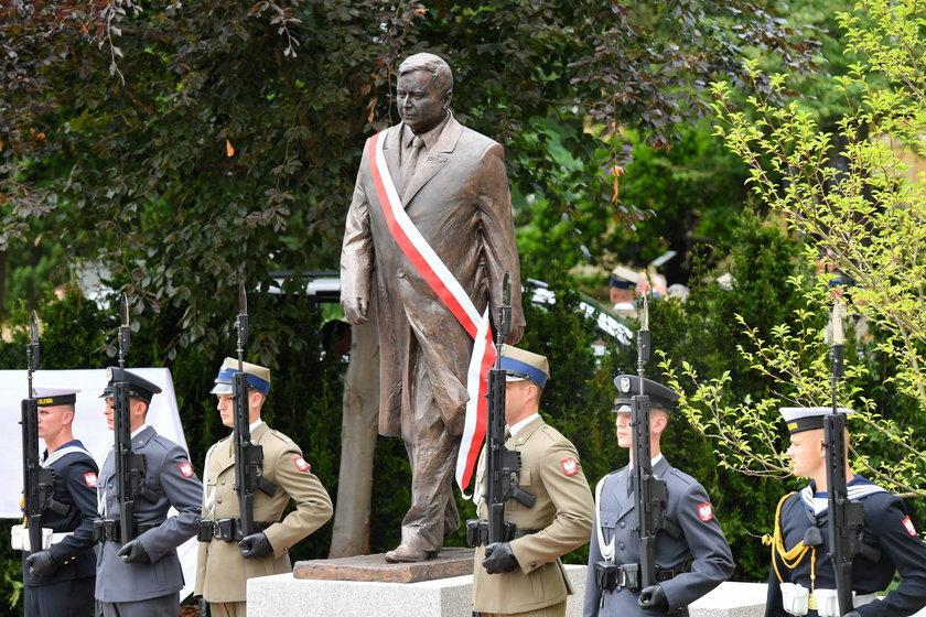 Odsłonięcie pomnika Lecha Kaczyńskiego