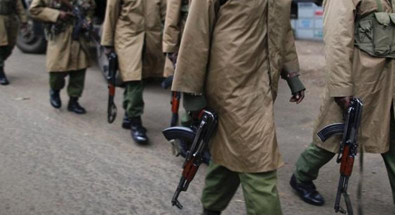 Kenyan Administration Police on patrol