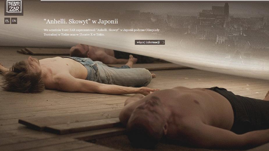 Strona internetowa Teatru ZAR