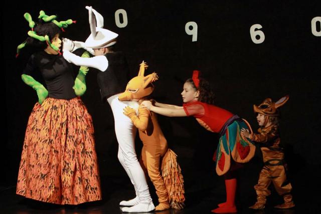 Iz predstave Alisa u zemlji čuda