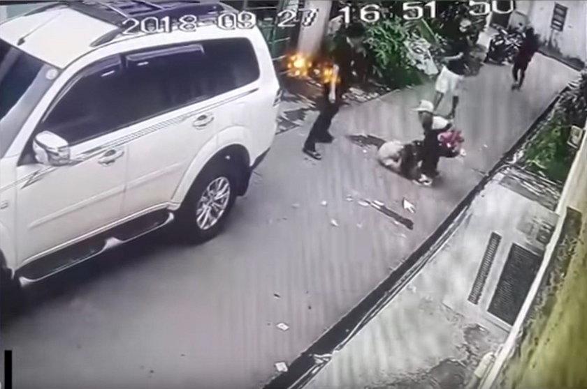 8-latka rzuciła się na bandziora!
