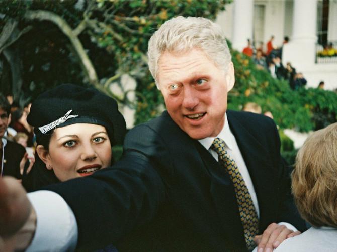 Monika i Klinton u trenutku izbijanja afere