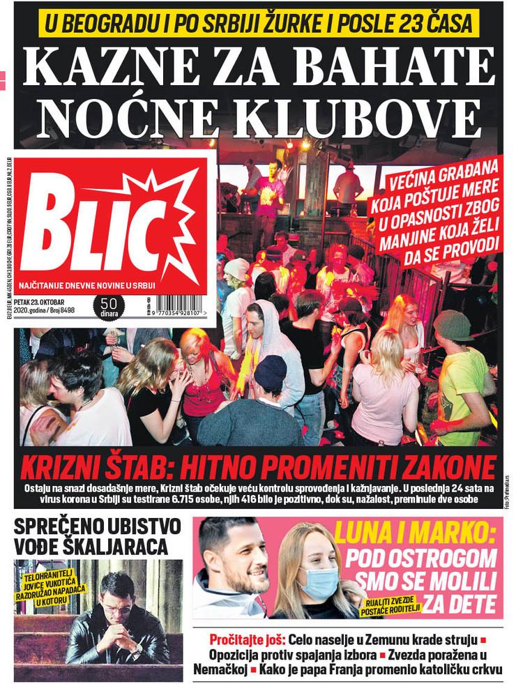 Naslovna za 23.10. nova