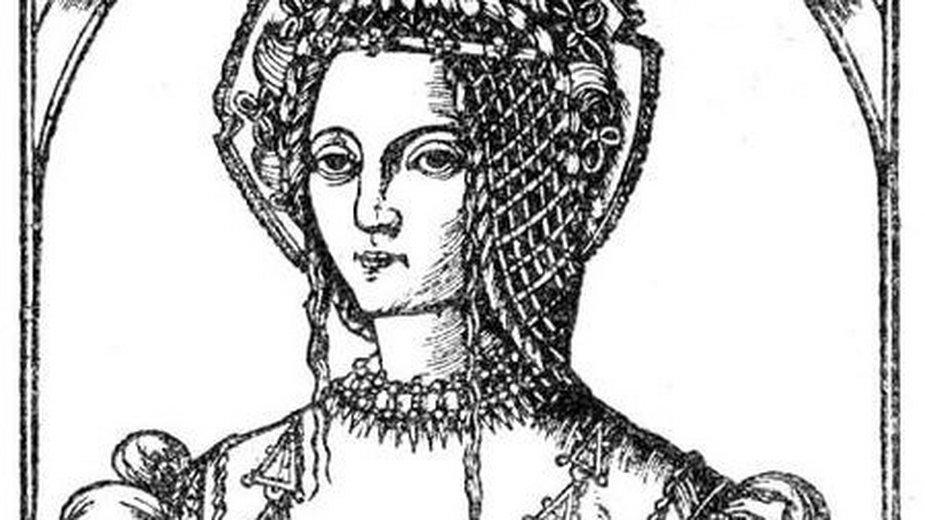 Królowa Bona (drzeworyt) - domena publiczna