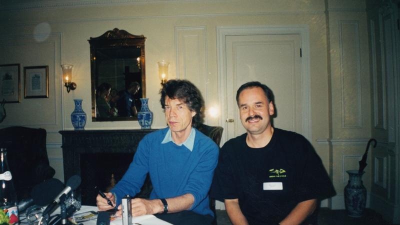Wiesław Weiss i Mick Jagger (fot. archiwum prywatne Wiesława Weissa)