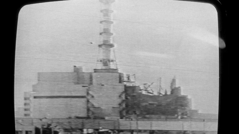 A picture of the Chernobyl plant shown on Soviet television on April 30, 1986