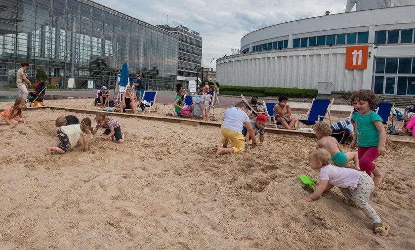 Plaża na targach