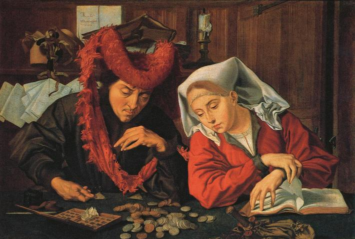 The Banker and his Wife. Image shot 1538. Exact date unknown.
