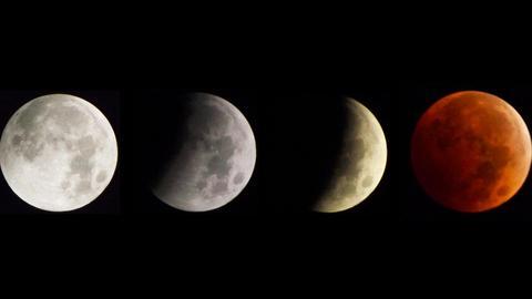 Fazy całkowitego zaćmienia Księżyca