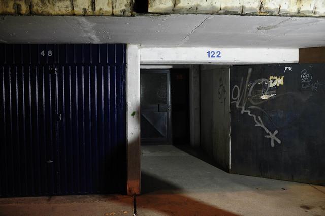 Garaža na Novom Beogradu u kojoj je nađen automobil