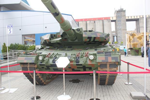 Leopard 2 PL podczas MSPO 2017 w Kielcach