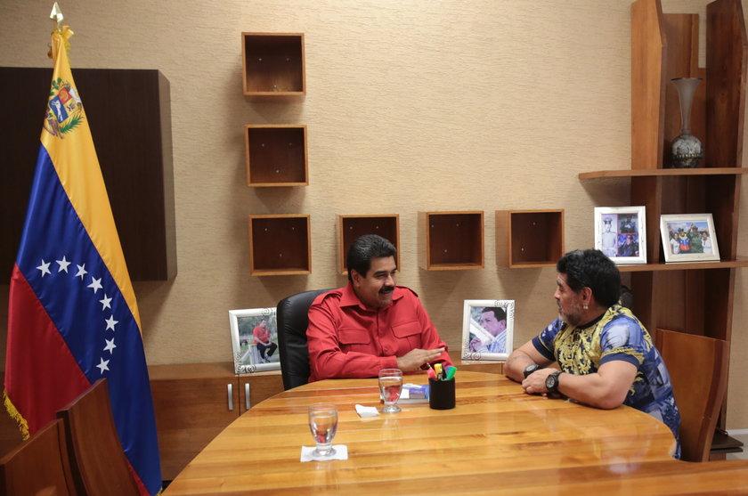 Diego Maradona odwiedził prezydenta Wenezueli Nicolasa Maduro!
