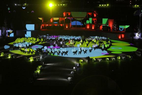 Detalj sa otvaranja Zimskog evropskog olimpijskog festivala mladih