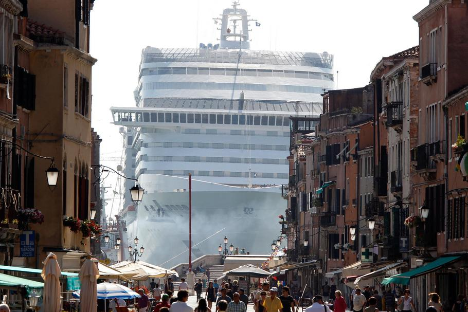 File photo of The MSC Divina cruise ship in Venice lagoon