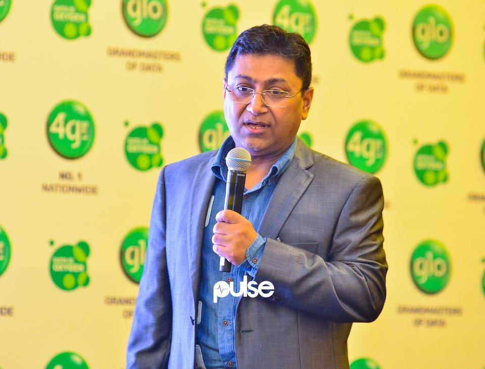 Group Chief Technical Officer, Globacom, Mr. Sanjib Roy speaking at Glo unveil event which held at Eko hotel & suites, Victoria Island Lagos on Friday, February 1, 2019.
