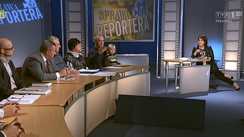 Kadr z programu Elżbiety Jaworowicz