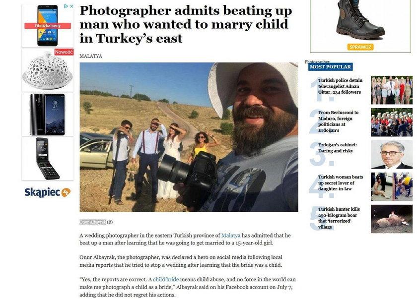 Ślubny fotograf nie wytrzymał