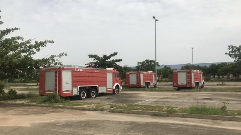 Abandoned Fire Service equipment inside Abuja National stadium (RConnect)