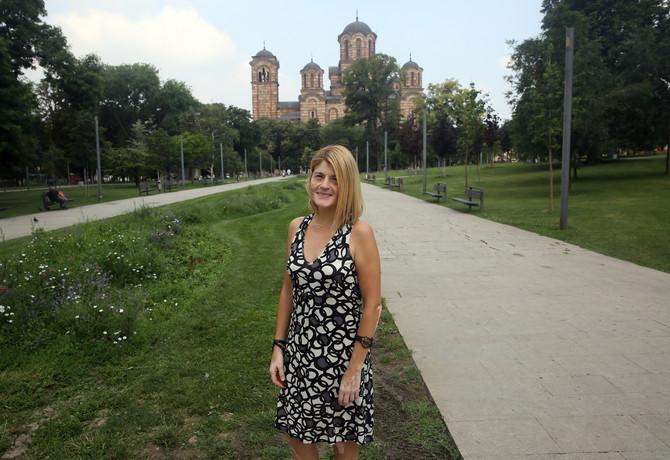 Bojana ispred Crkve Svetog Marka