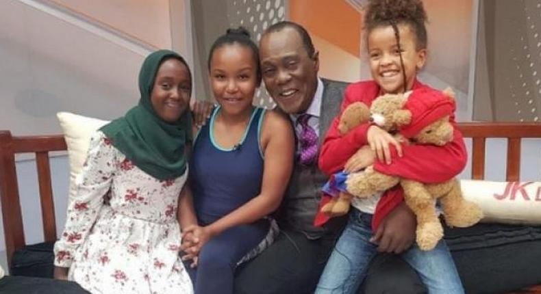 Jeff Koinage with Leyla Mohamed, Wendy Waeni and Ellyane Wanjiku on JKLive earlier this week