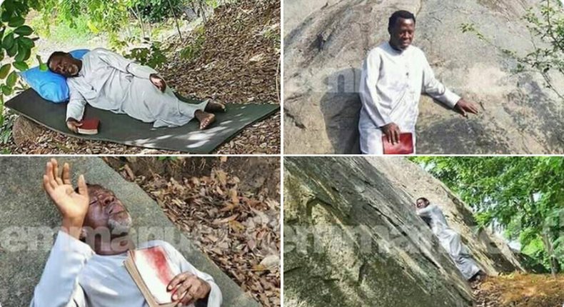 TB Joshua fasts and prays on the mountain,refuses to eat until COVID-19 is defeated
