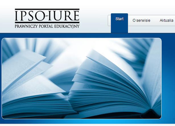 www.ipso-iure.pl Serwis oprócz bazy aktów prawnych i testów dysponuje innowacyjnym systemem Audiolex