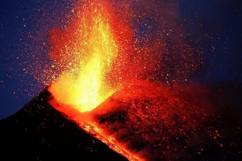 Spektakularny wybuch Etny