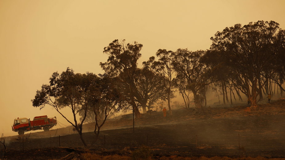 Pożary nawiedziły Australię głównie na początku br.