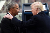 Barak Obama i Donald Tramp ap