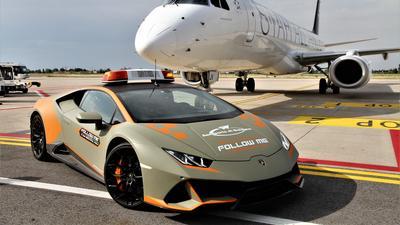 To lotnisko używa Lamborghini Huracana Evo. Włosi mają fantazję