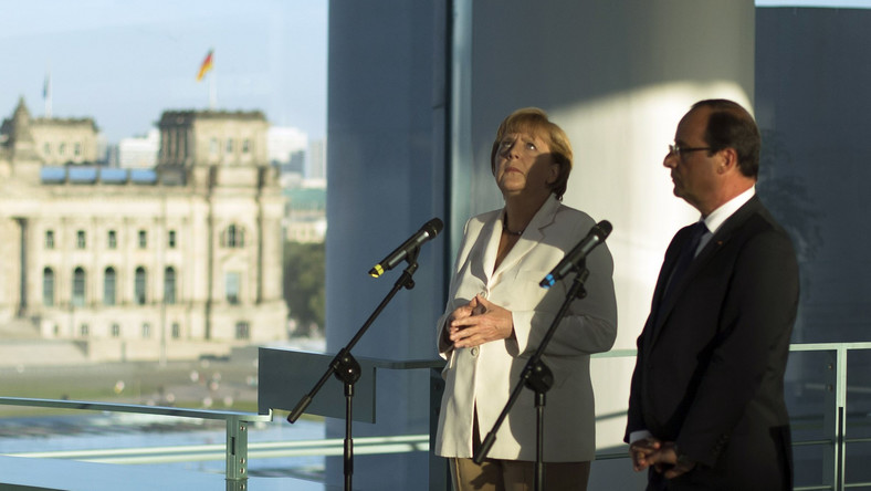 Angela Merkel i Francois Hollande