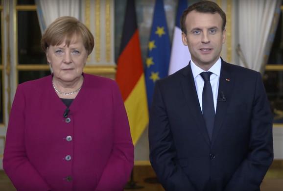 Merkel i Makron