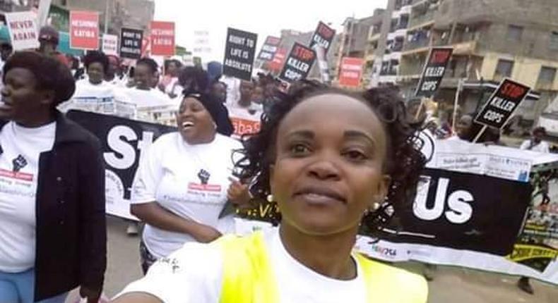 Activist Caroline Mwatha