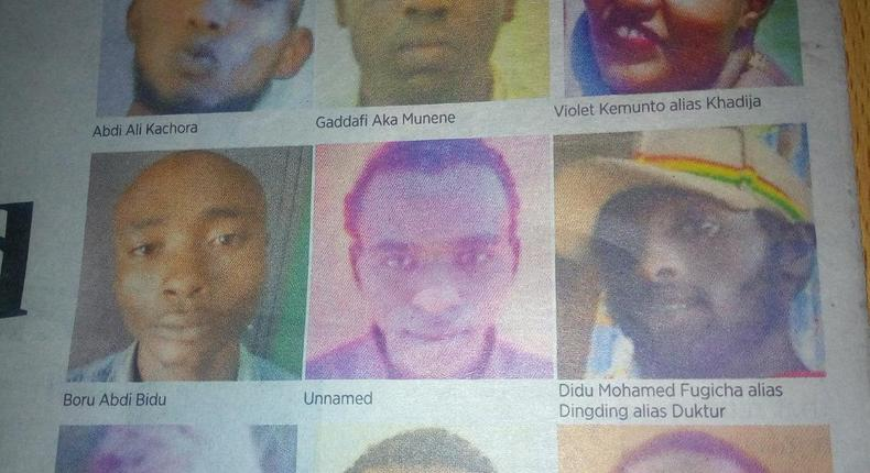 Suspects in the Dusit attack